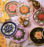 Круглые прихватки с цветочками