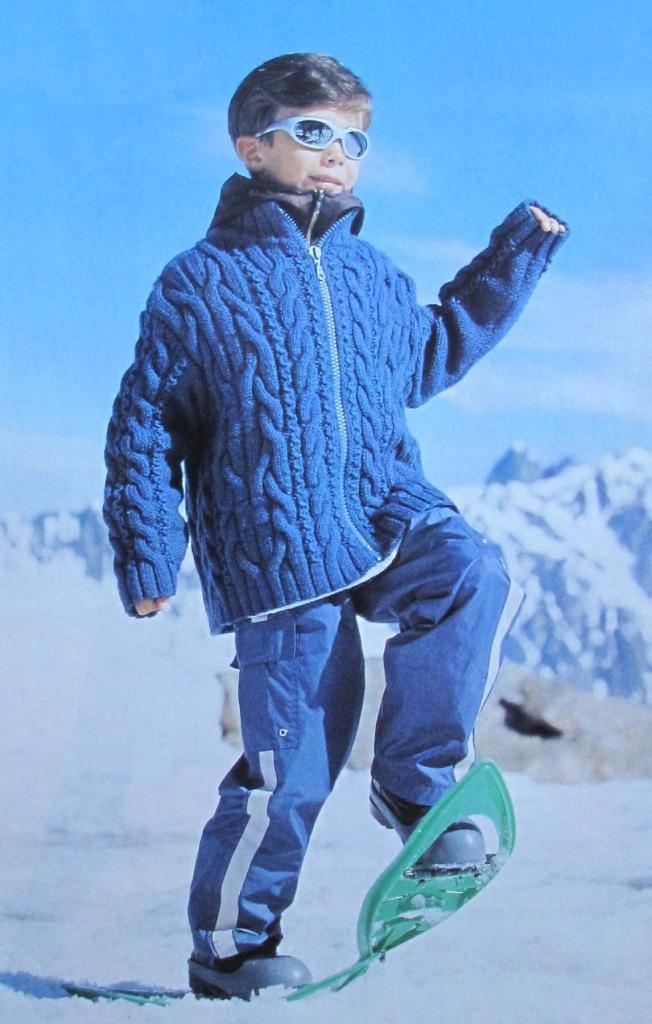 Куртка для мальчика. Вязание спицами
