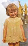 Платье для девочки. Брюггское кружево