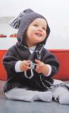 Пуловер с капюшоном для малыша