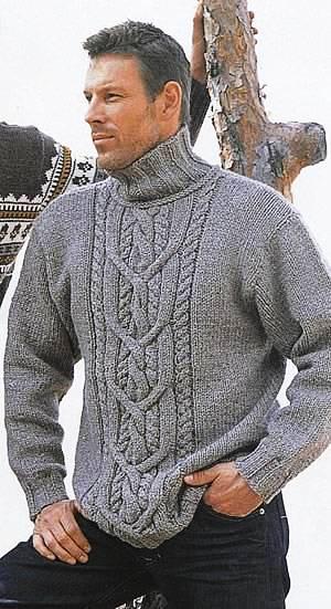 Для вязания мужского свитера