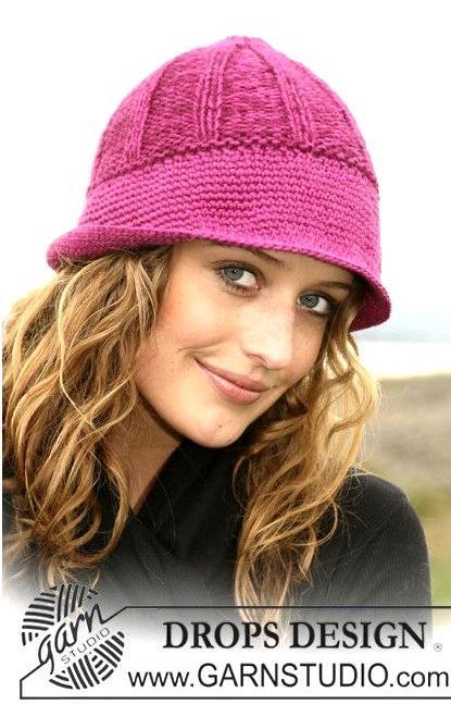 Женская шапочка с полями