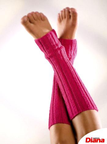 Гетры для спорта и танцев, связанные спицами