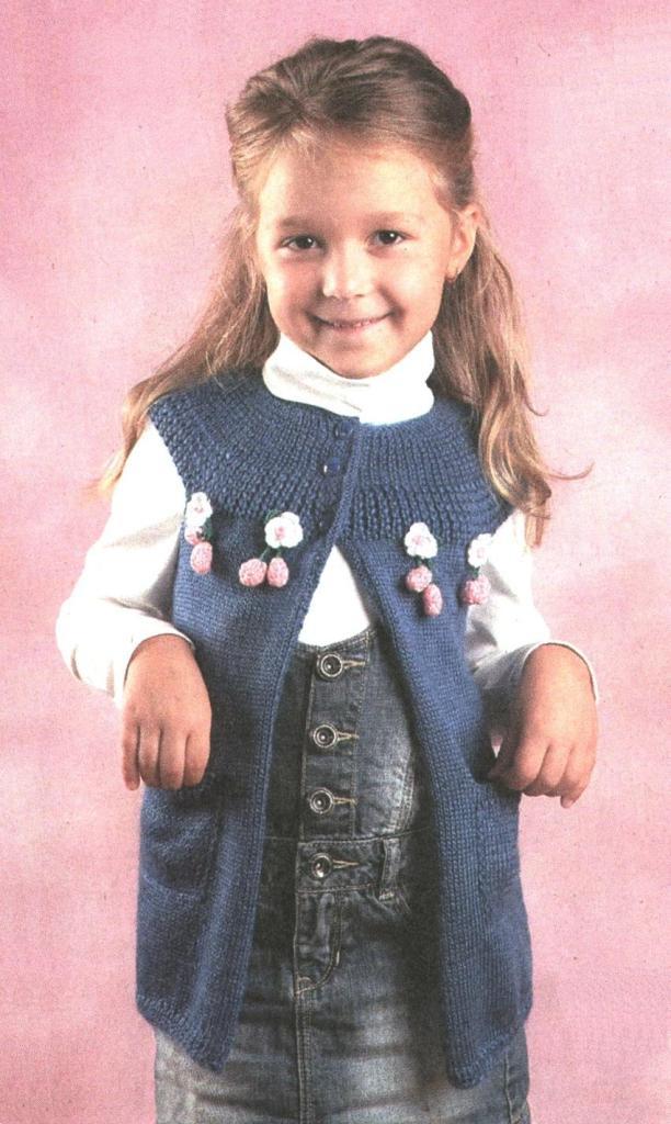 Вязание пиджака для девочки 35