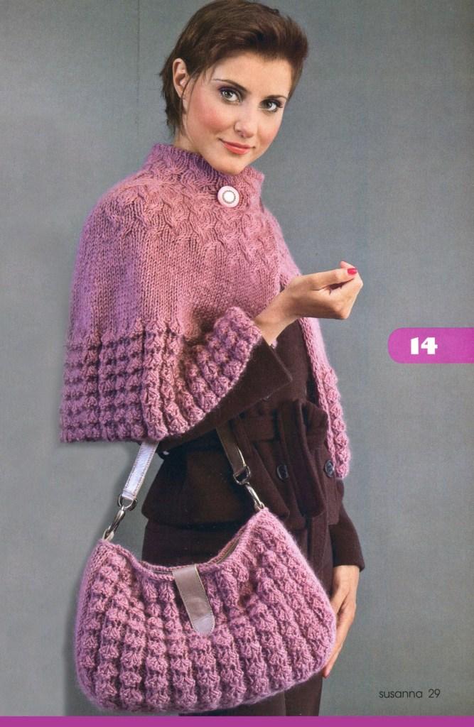 Женские пончо и сумочка