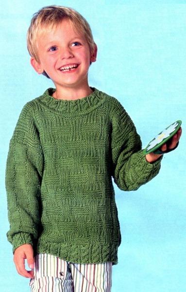 Пуловер для мальчика. Вязание спицами