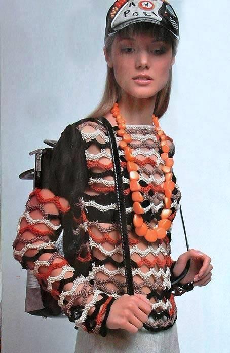 Летний женский пуловер