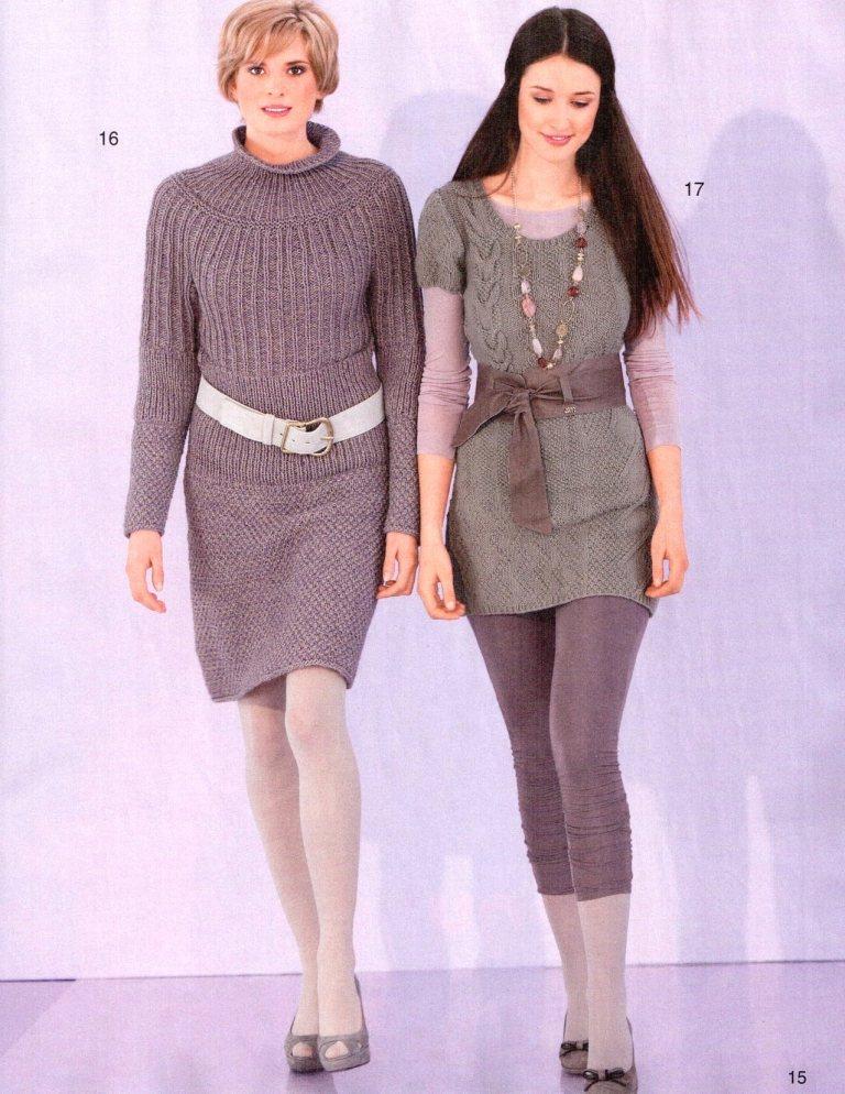 Туника и платье. Вязание спицами.
