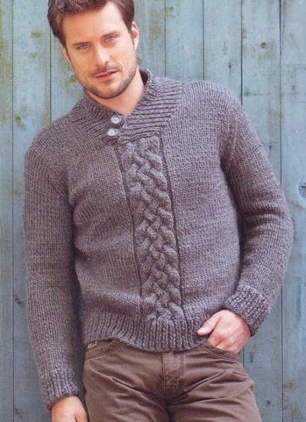 Для вязания мужского пуловера