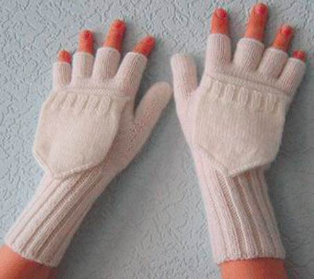 Варежки-перчатки. Вязание спицами.