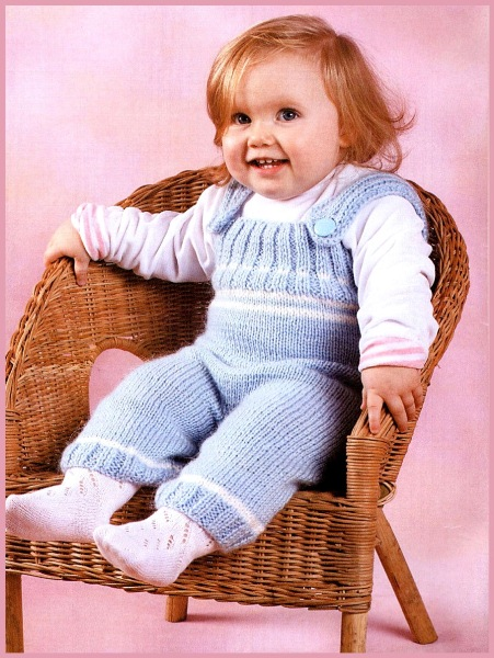 Детский голубой комбинезон