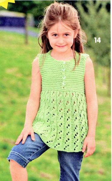 Сарафан для девочки.  Вязание спицами