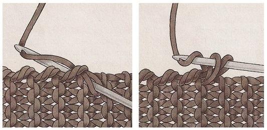 Рачий шаг. Вязание крючком