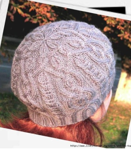 Шапочка Iced Hat. Вязание спицами