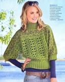 Женский пуловер с рукавами «летучая мышь» спицами и крючком